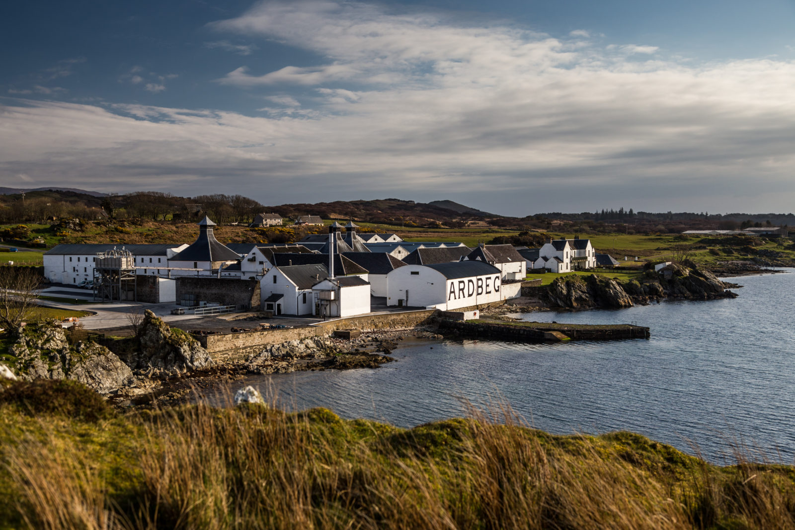 Photo of Ardbeg Distillery in Scotland